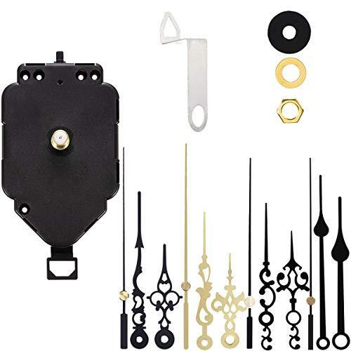 Acmerota Movimento dell'orologio a pendolo Movimento al quarzo Kit di movimento fai-da-te, 12 lancette dell'orologio, Meccanismo di movimento dell'orologio a pendolo di ricambio Accessori di ricambio