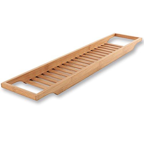 Torrex® 30540 Badewannenregal aus Bambus in verschiedenen Größen Badewannenablage (74 x 15 x 3,5 cm)