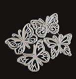 Plantilla de corte de combinación de mariposa Papel Cuchillo Molde Molde Diy Cuchillo de grabado en relieve Troqueles de corte para hacer tarjetas 10X7.5Cm
