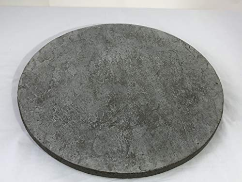 Concrete Resurrection Concrete Cement Lazy Susan Unique, Hand Crafted, Gray, Turntable, 360 Degree Swivel, Made in The USA, Home Decor (24' Diameter)