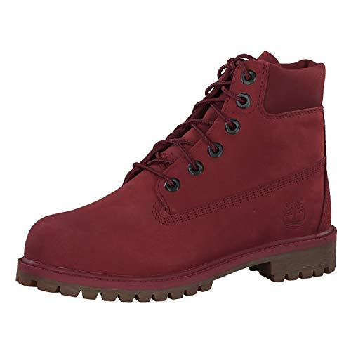 "Timberland Premium 6"" Waterproof Boot Big Kid's Shoes Burgundy tb0a1vck (7 M US)"