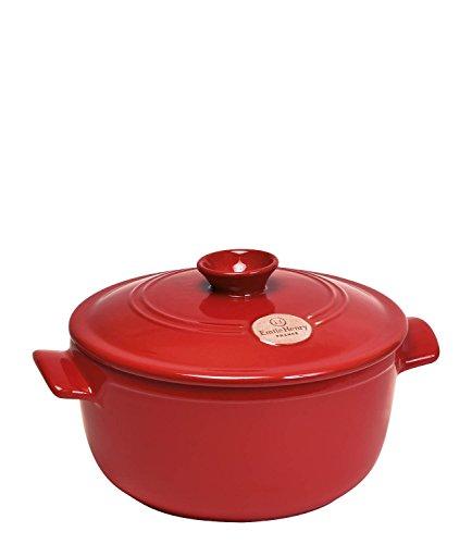 Emile Henry Flame Round Stewpot Dutch Oven 42 Quart Burgundy
