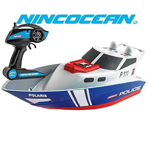 Ninco (NH99032) NincOcean RC Polizeischiff ab 6 Jahren blau/weiß