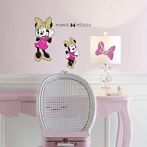 RoomMates Décor géant Disney Minnie Mouse avec brillants