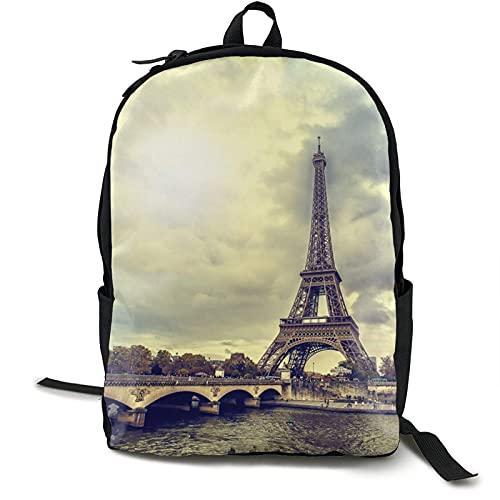 1484686729-Eiffel-Tour-Paris Bapa Hochleistungs-Büchertasche Verschleißfeste Reise Rusas Multifunktions-Laptop-Büchertasche Schulbapas für Jugendliche