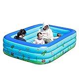 DUNLIN Familia Inflable Piscina Jardín Verano Niños Al Aire Libre Pool Pool (Color : Blue)