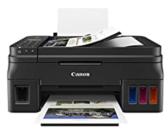 This printer comes with more than 30x the amount of ink compared to a standard set of ink cartridges, and you get two black bonus bottles on top of that The fully integrated ink tanks allow you to easily refill them, see the ink levels and are integr...