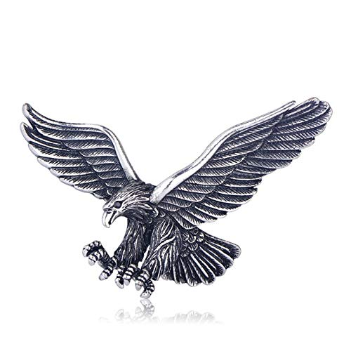 Broche de águila voladora de Color plateado antiguo Vintage para hombre y niño, accesorios para bufanda, alfileres de pájaro, regalo de fiesta de cumpleaños