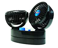 Streetwize - Twin Cyclone Car Fan - 12V - ON/OFF 2 Speed - Ideal For: Cars, Van, 4x4's, Caravans and...