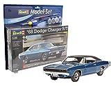 Revell Modellbausatz Auto 1:25 - 1968 Dodge Charger R/T im Maßstab 1:25, Level 4, originalgetreue Nachbildung mit vielen Details, , Model Set mit Basiszubehör, 67188 -