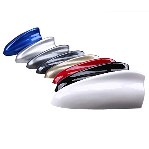 WWHPVP Antena de Aleta de tiburón de Coche Universal, Antenas de Mejora de la señal FM/en señal de Avance a Prueba de Agua para Todos los Autos diseño Plano optimizado ABS 7 Color,Azul