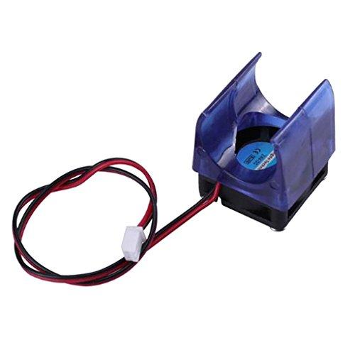 IPOTCH Ventilador de Radiador Azul V5 V6 Ventilador de Refrigeración con Cubierta Pieza de Repuesto de Protector de Ventilador de 12 V para Impresora 3D