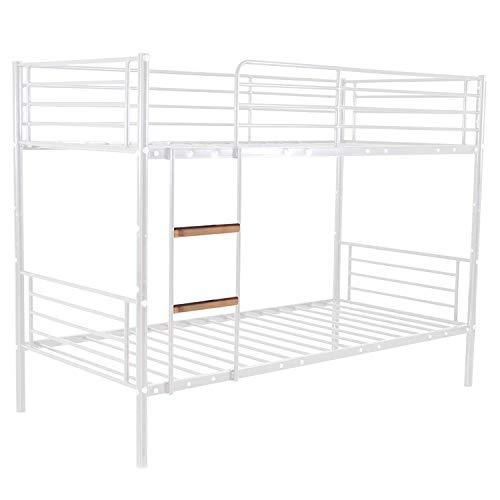 Kinder-Hochbett / Einzelbett für 2 Kinder, Metall weiß