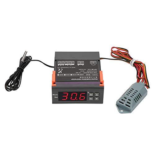 Hyuduo Digitaler Luftfeuchtigkeitsregler WH8040 Messbereich 1% -99% RH HM-40 Sensor für hohe Genauigkeit AC 220V für Luftbefeuchter Luftentfeuchter mit Temperatursensor