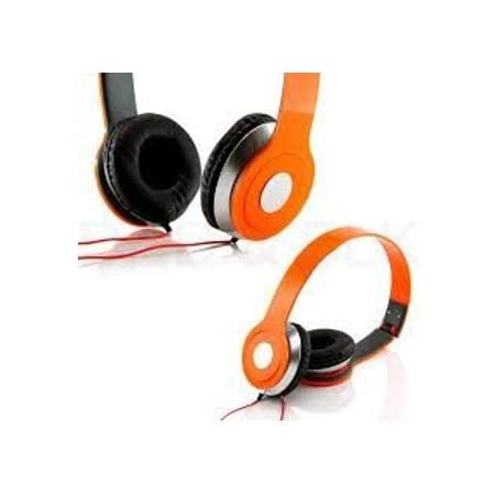 Roberts Fojjers Special Foldable Over The Head Stereo Dj Headphone 3.5 Mm for Pc Tablet Music Video & All Other Music Players. (Tangerine)