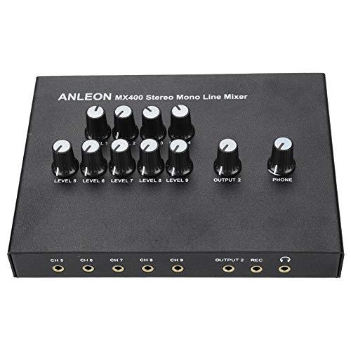 Tonysa Mini Amplificador, Mezclador estéreo de línea Mono 100-240V, Amplificador Digital Subwoofer Amplificador de Altavoz para TV teléfono MP3 Mac Mini PS3 Xbox FM sintonizador(Enchufe de la UE)