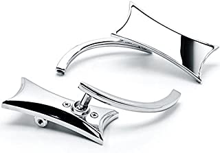 Krator KM025-C Mirror (Chrome Twisted Unique Rearview For Harley Motorcycle Cruiser Bike Bolt)