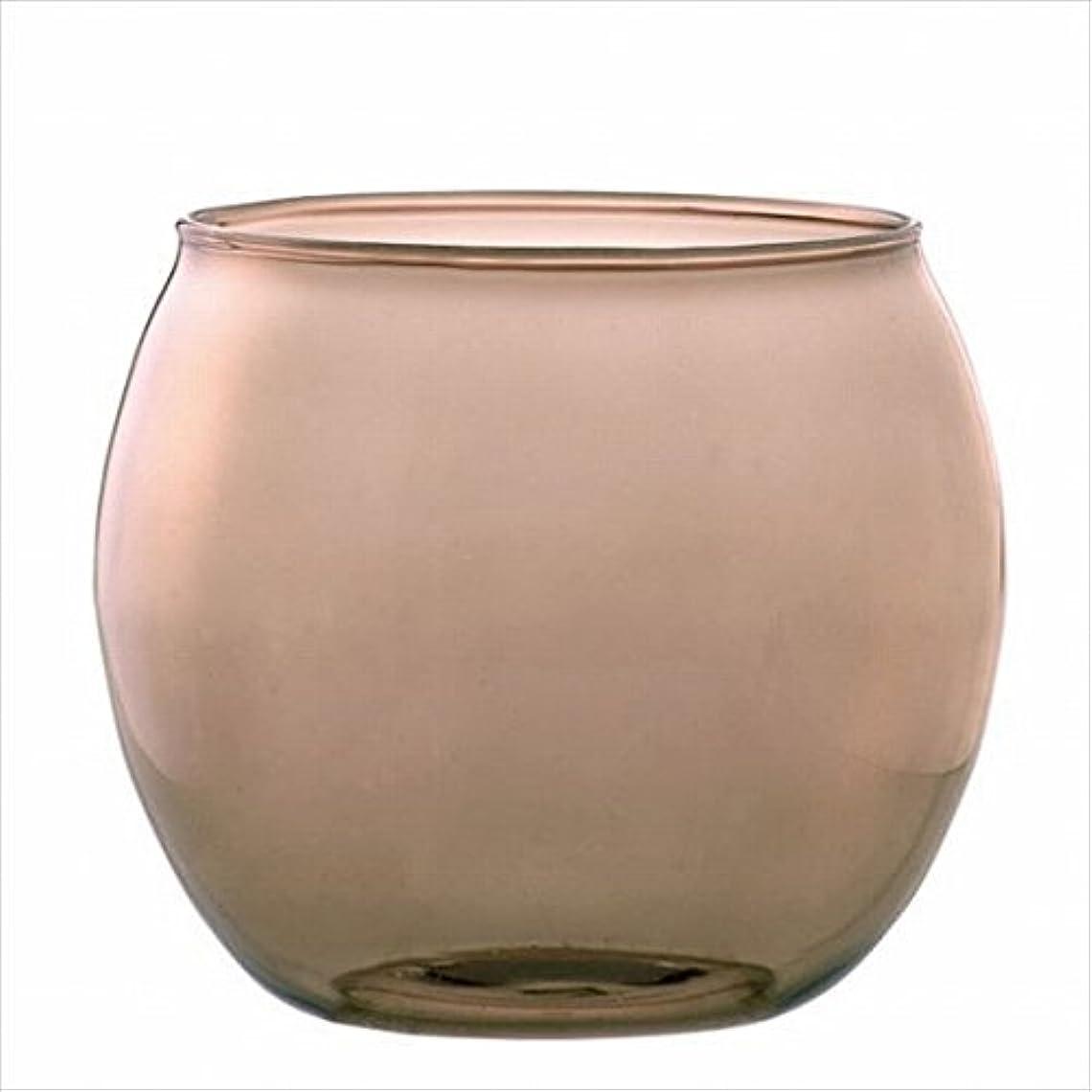 スパイ退院意義カメヤマキャンドル(kameyama candle) スフィアキャンドルホルダー 「 ベージュ 」