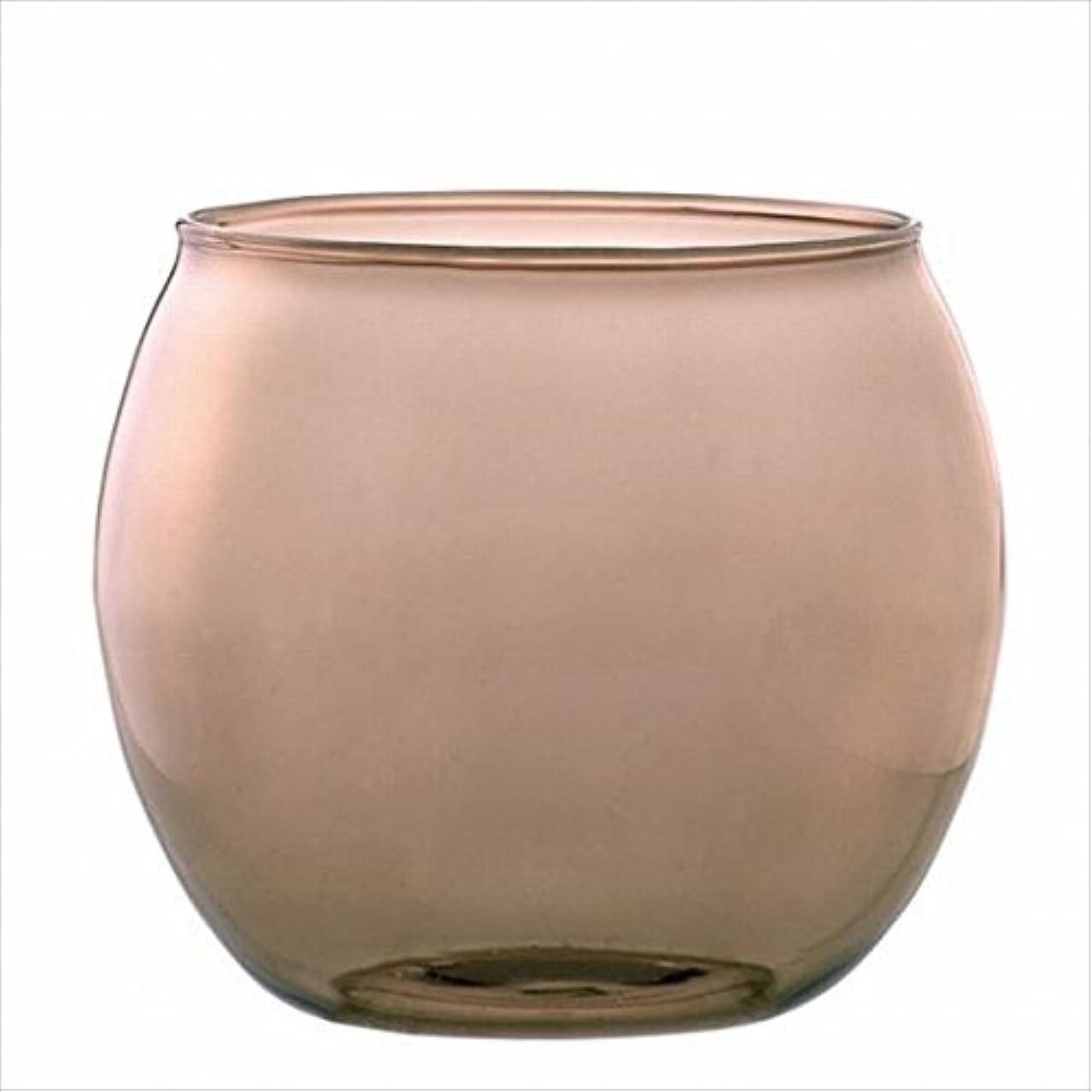 花輪強調する仲人カメヤマキャンドル(kameyama candle) スフィアキャンドルホルダー 「 ベージュ 」