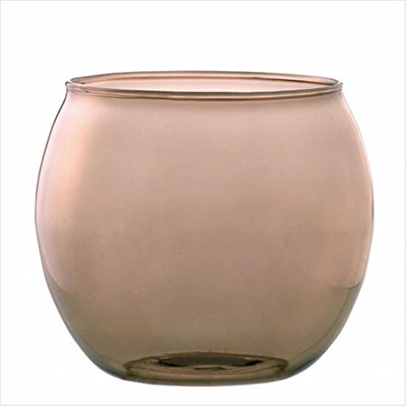 ゆるくブラザー使役カメヤマキャンドル(kameyama candle) スフィアキャンドルホルダー 「 ベージュ 」