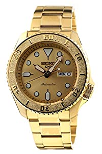 Seiko 5 Sports Gold Automatic Street Boy Men's Watch SRPE74K1