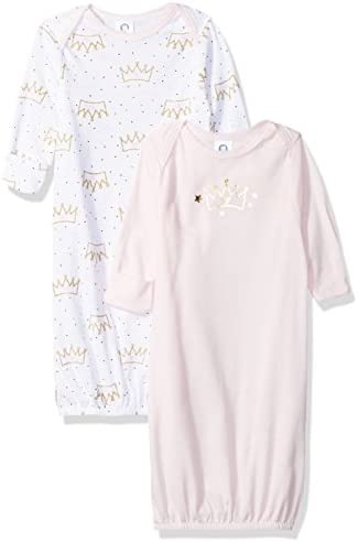 Gerber Baby Girls 2 Pack Gown princess crown 0 6 Months product image
