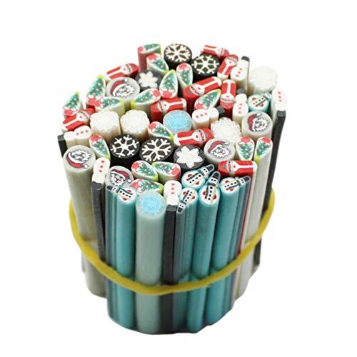 Beaupretty nail art canes stick stangen polymer clay scheiben weihnachten aufkleber für diy nageldekoration 50 stück