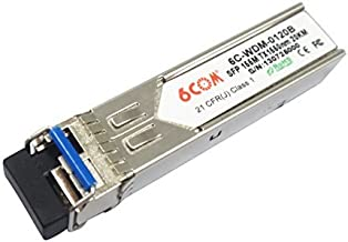 6COM BIDI SFP Transceiver 155M 1550nm TX / 1310nm RX 20KM SC Connector compatible with Alcatel SFP-100-BX20LT