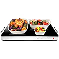 Chefman Electric Warming Tray with Adjustable Temperature Control For Buffets, Restaurants, Parties, Events, Home Dinners (Black)