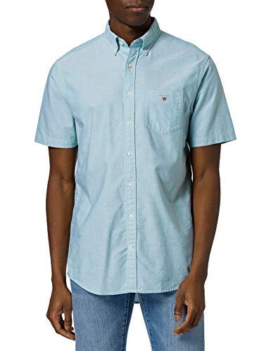 Photo of GANT Men's REG Oxford Shirt SS BD, Green Lagoon, S
