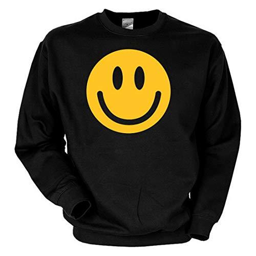 Biker Sweat-Shirt - Smiley Face - Langarm-Shirt für echte Kerle