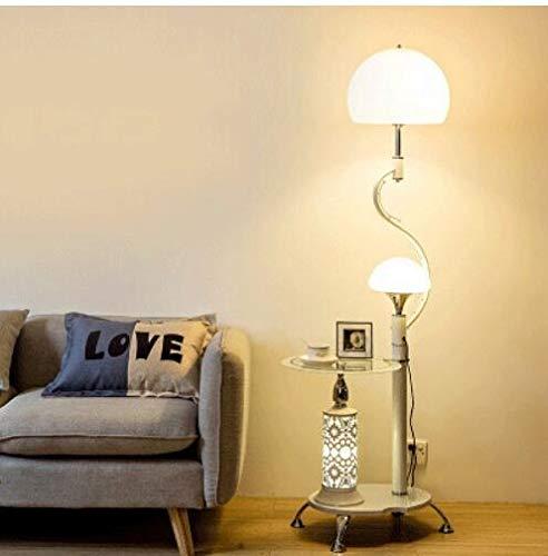 WUYUESUN Lámpara de pie nórdica de escritorio moderna para dormitorio, sala de estar, lámpara de pie, lámpara de estudio LED, iluminación de decoración industrial (color de la pantalla del estilo E)