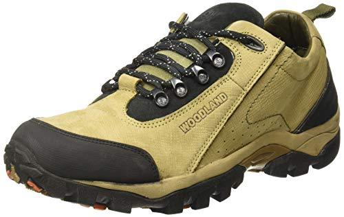Woodland Men's Khaki Leather Casuals Shoes-9 UK/India (43 EU) -(OGC 2658117)