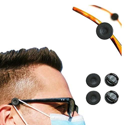 LMSHA Ohrpolster, elastische Gesichtsschutzversteller für Brillen, an der Brille befestigte Clips können den Druck auf die Ohren von Erwachsenen und Kindern verringern