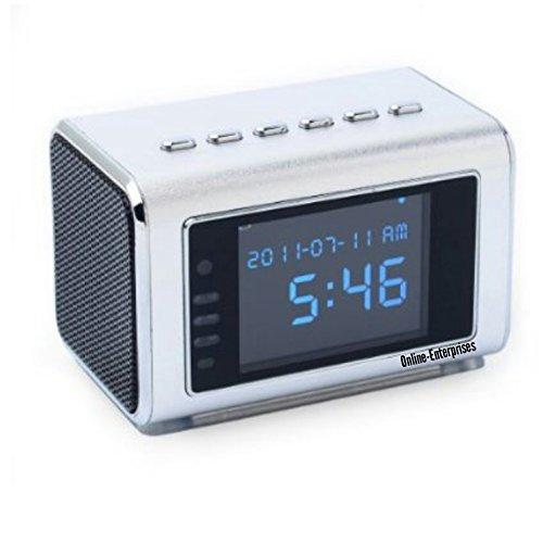 TOP Secret Spy Camera Mini Clock Radio Hidden DVR- Continuous power or battery