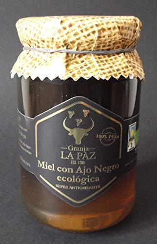 """Miel ecológica con ajo negro 500 gr. \""""Granja La Paz\"""" / sin azúcar añadido / 100{d57109340d3eb21270258c293c66887d1a02f2b7d0cfb319c8c18a9ac47cee33} española"""