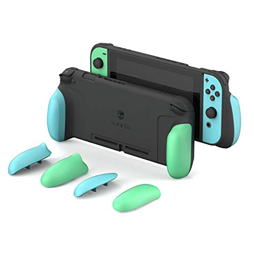 Skull & Co. GripCase: A Dockable Protective Case with Replaceable Grips [to fit All Hands Sizes] for Nintendo Switch [No Carrying Case] - Animal Crossing