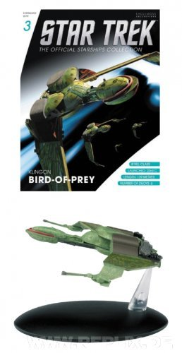 STAR TREK Official Starships Collection #3: Klingonischer Bird of Prey (Spaceship & Magazine), Language: English