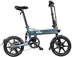 Fangteke FIIDO D2S Ebike Neumáticos de 16 Pulgadas Bicicleta eléctrica Plegable Motor de 250 vatios 6 velocidades Bicicleta eléctrica de Cambio para Adultos Desplazamiento Urbano