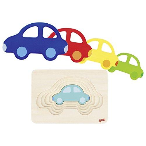 Goki 4013594574853 Auto Schichtenpuzzle