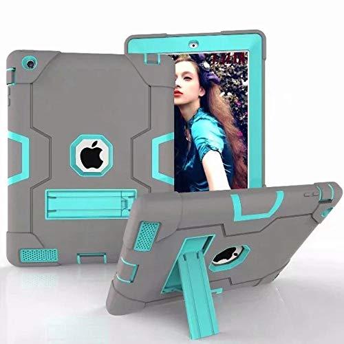 Case For Apple iPad 2 iPad 3 iPad 4 Cover High Impact Resistant Hybrid Heavy Duty Armor Defender Full Body protector-GB