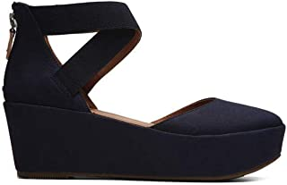 Gentle Souls Womens Nyssa Platform Wedge with Elastic Ankle Straps