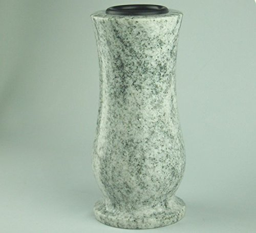 designgrab Taille-medium Grabvase aus Granit Viscont White