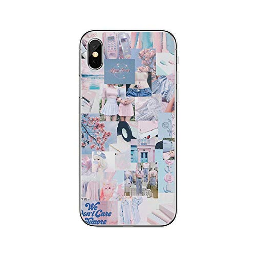Pink Aesthetic - Carcasa de silicona para iPhone 5, 5S, SE, 6, 6Plus, 7 Plus, 8 Plus, X, XS, XS, XR, XS Max 11, para iPhone 11 Pro Max-T19080508-05.Jpg-for iPhone XR