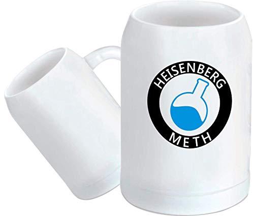 Shirtstown - Jarra de cerveza, diseño con texto en alemán 'Heisenberg Meth'