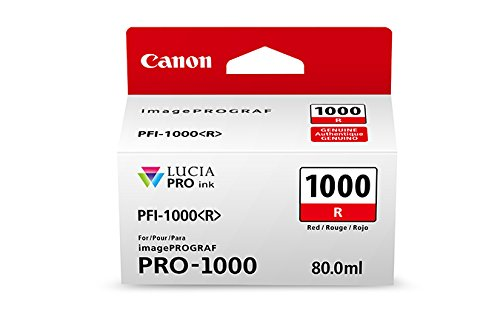 CanonInk Lucia PRO PFI-1000 Red Individual Ink Tank