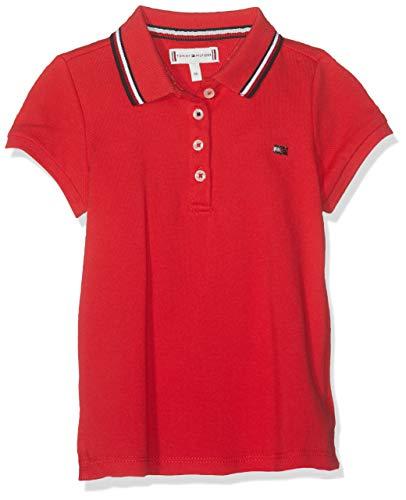 Tommy Hilfiger Tommy Hilfiger Baby-Mädchen Essential Polo S/S Poloshirt, Rot (True Red 635), (Herstellergröße: 92)