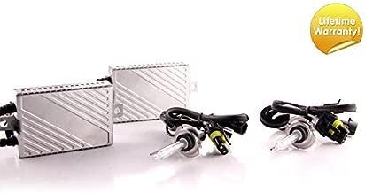 DDM Tuning Plus 55W Premium HID Kit, Slim AC Ballasts w/Hi-Output Bulbs, H7, 8500K