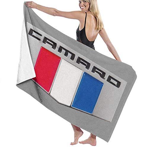 Ewtretr Toallas de baño Camaro Performance Car Baby Large Soft Bed Toalla de Playa Sábana Juego de baño Accesorios de baño