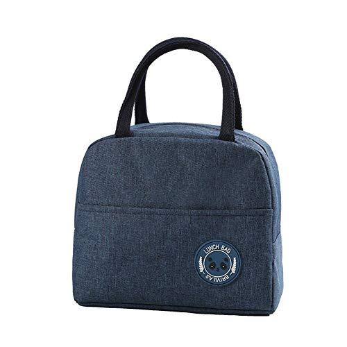 YSGJ Netter Insulated Lunch Bag Box Cooler Tote Container mit Fronttasche für Frauen/Männer/Schule/Arbeit/Picknick (dunkelblau),Blue b